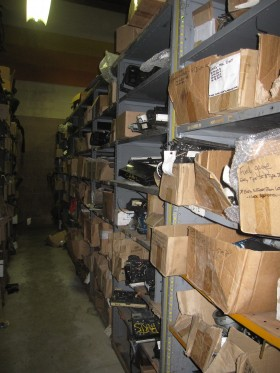 Warehouse parts aisle