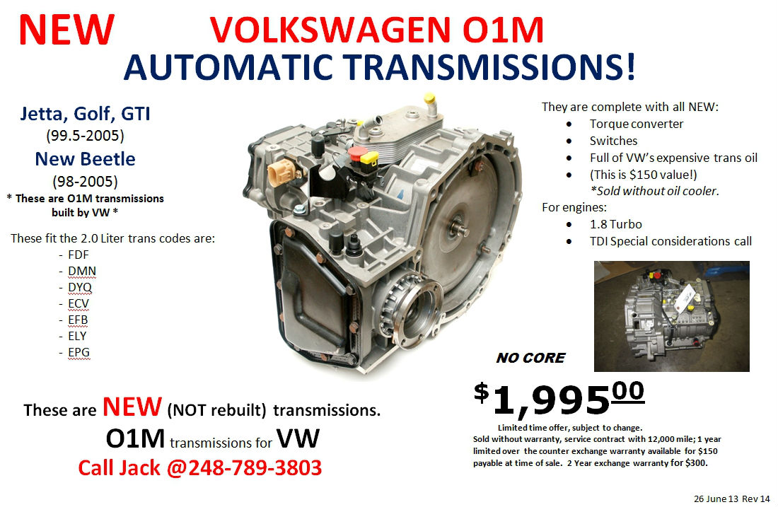 VW FDF Transmission